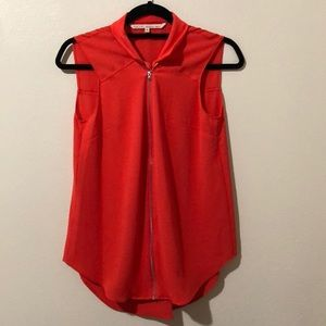 Rachel Roy Coral Sleeveless Blouse Size Small